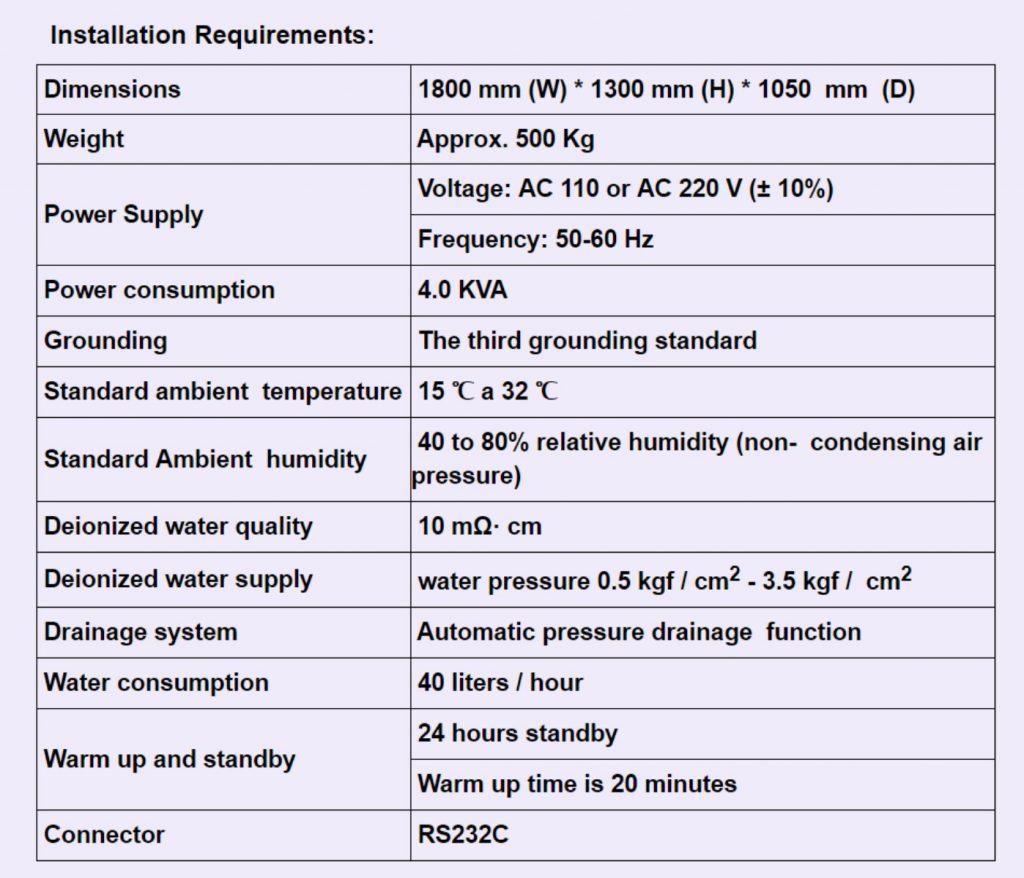 Chemistry Analyzer Installation Requirements